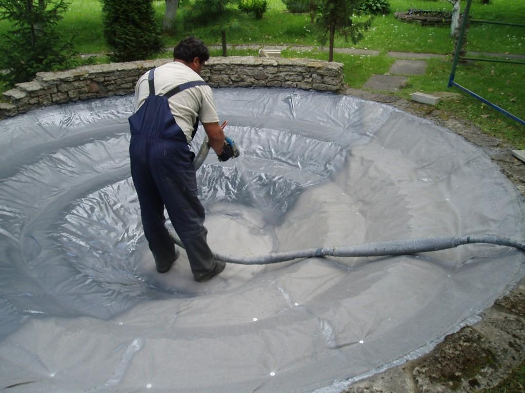 Гидроизоляция фонтана полимочевиной